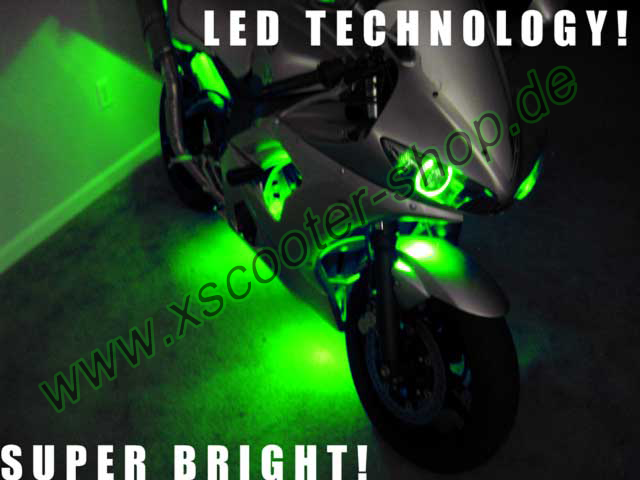Neon Light Kits For Motorcycles Das LED-Umbau-Set passt auf alle Roller, Motorräder, Autos, Quads!